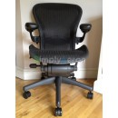 Black Classic AERON Chair with Lumbar Support (Mk2)
