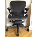 Black Classic AERON Chair with POSTUREFIT