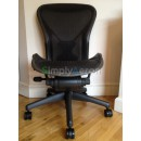 Black Armless Classic Aeron Chair with PostureFit