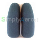 Aeron Green Upholstered Arm Pads