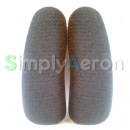 Aeron Grey Upholstered Arm Pads