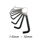 Allen Key Keyring Set