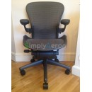 Grey Tuxedo Aeron Chair with Lumbar Support (Mk2)