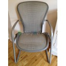 White Gold Tuxedo Classic Aeron Side Chair
