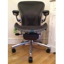 Black Classic Executive Aeron Chair with PostureFit (Mk2)