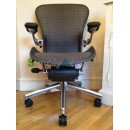 Grey Tuxedo Executive Aeron Chair with Lumbar Support (Mk2)