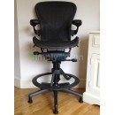 Black Classic Aeron Work Stool with PostureFit (Mk2)