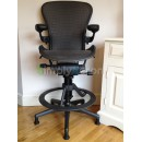 Grey Tuxedo Aeron Work Stool with PostureFit (Mk2)