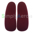 Aeron Red Upholstered Arm Pads